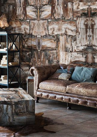 petrified wood beige-brown retro leather