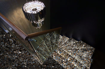 agate umbra with gold stairs TILES SELEC