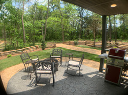 Outdoor BBQ Fire Pit Area
