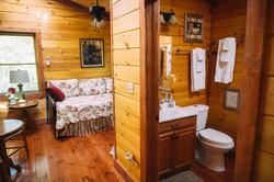 Cuddly Cub Loft area/bathroom