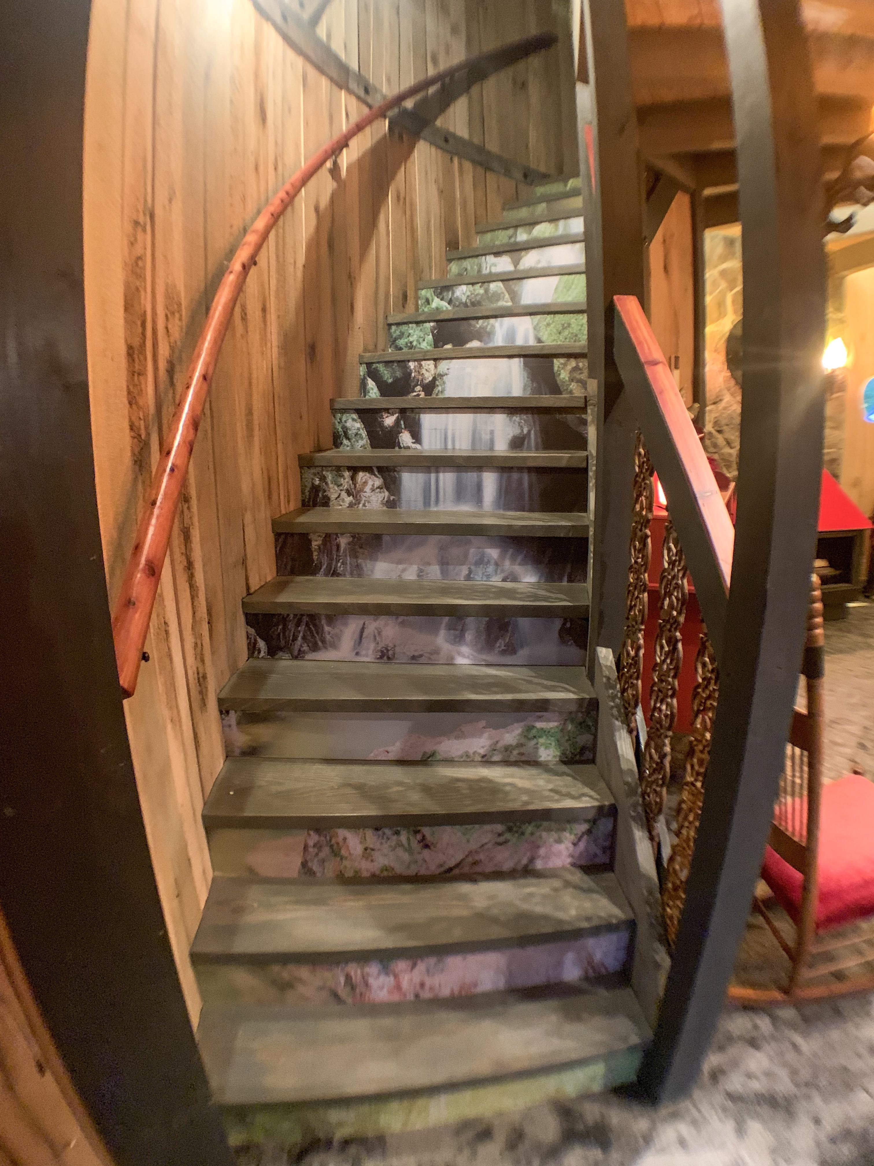 waterfall stairway