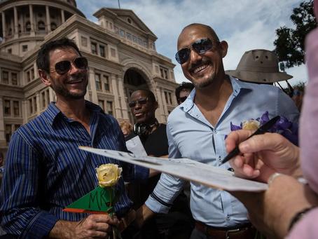 Houston judge tosses same-sex marriage benefits challenge, but plaintiffs pledge to appeal.