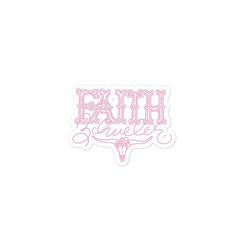 Pink Western Sticker