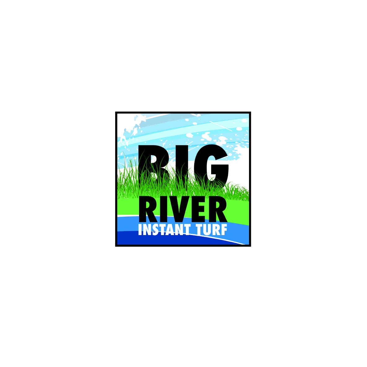 Big River Turf logo-concept