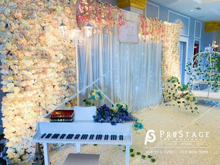 Hall Decoration + Themed Photobooth + Photo Album Corner + VIP Table + Walkway + Stage