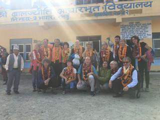 Notre groupe YOGA & Trek à l'école de Bhagar - Népal