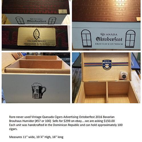 Vintage Quesada Cigars Advertising Octoberfest 2016 Bavarian Brauhaus Humidor