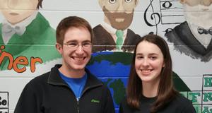 Matt Spettel and Emily Duval