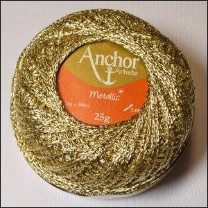 Anchor Artiste Metallic  gold / or 303