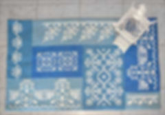 embroidered rug, cross stitch rug, Sudan wool