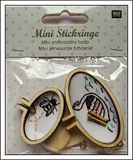 Ministickring, Mini cadre, Mini embroidery hoop