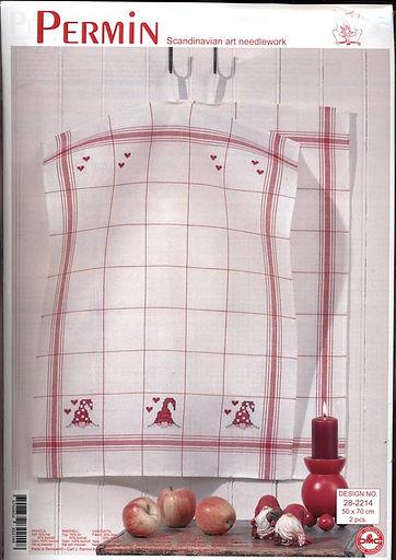 drap de cuisine de Noel / Christmas kitchen cloth / weihnachtliches Küchentuch