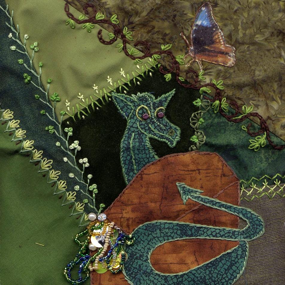 Crazy Quilting : crazy quilt dragon - Adamdwight.com