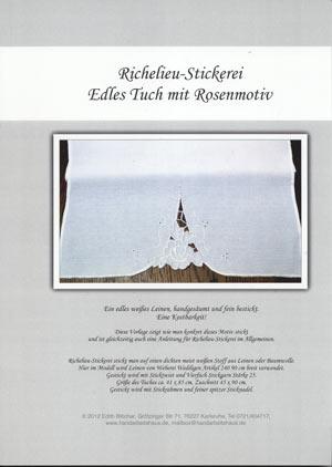 Rosentuch - Vorlage