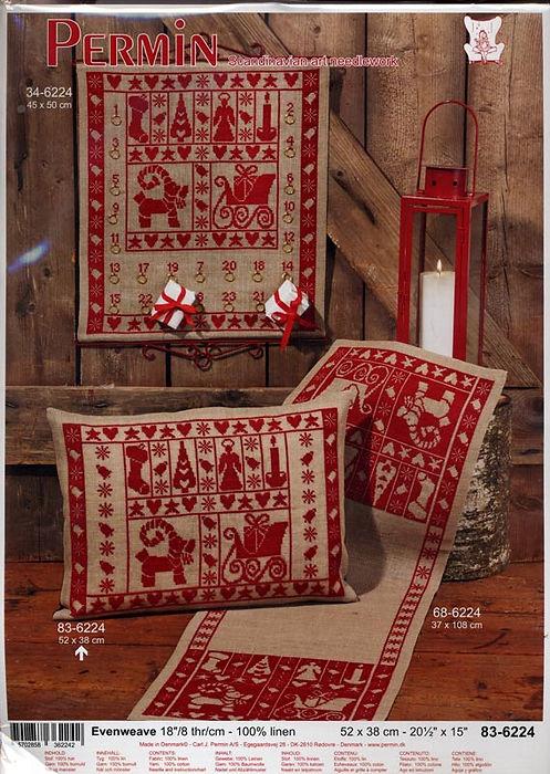 kit Permin de Noel / permin Christmas kit / Weihnachtliche Stickpackung
