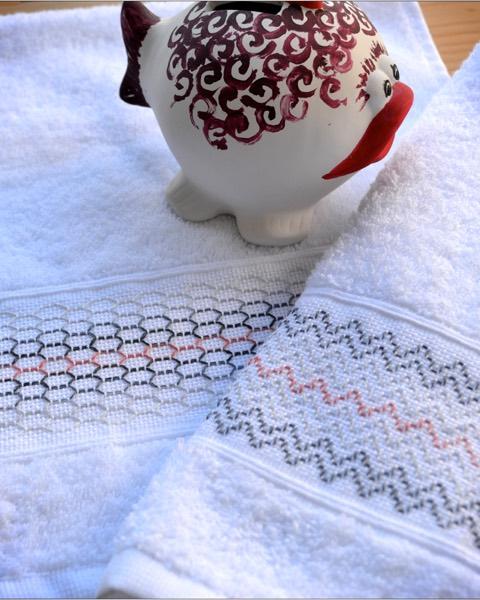 sur éponge / on toweling / Frottee