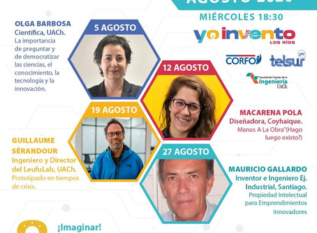 """Hoy inicia segundo ciclo de charlas virtuales """"i3: ¡Imaginar! ¡Investigar! ¡Inventar!."""
