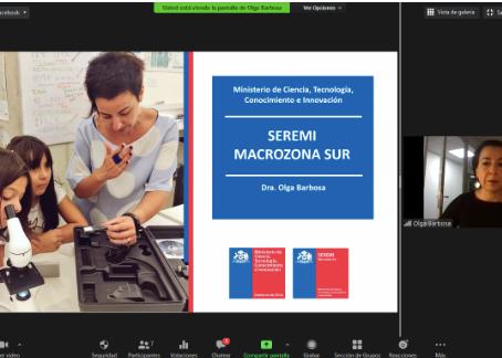 Segundo Ciclo de Charlas Virtuales comenzó con charla de Seremi de Ciencias de la Macrozona Sur