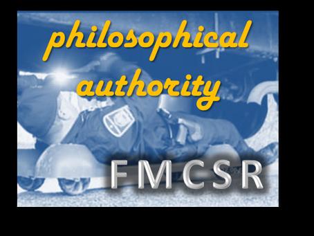 FMCSR Week 2: Philosophical Authority