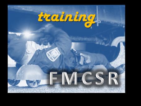 FMCSR Week 4: Training