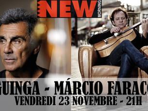 Ce vendredi au New Morning : Márcio Faraco et Guinga !