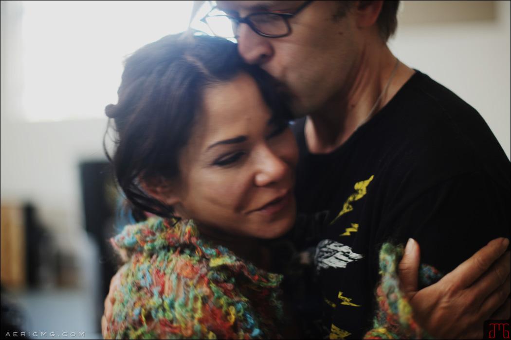 Jayce Bartok & Daphne Rubin Vega on Set