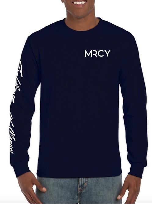 Long Sleeve Navy Shirt - MRCY - Unisex