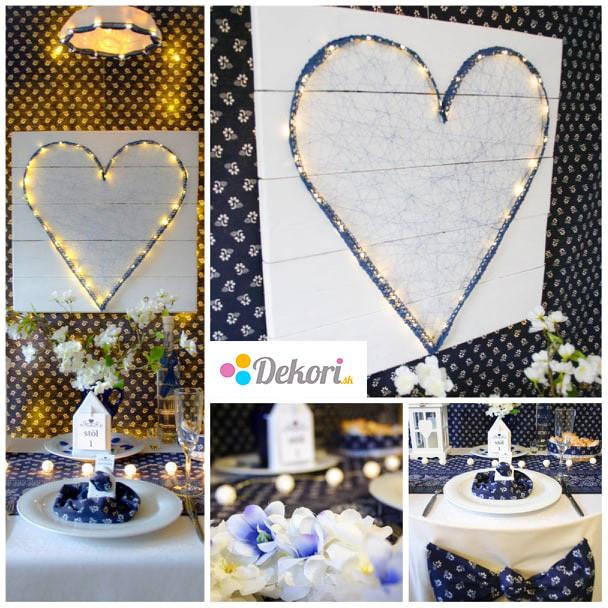 Svadobná výzdoba modrotlač