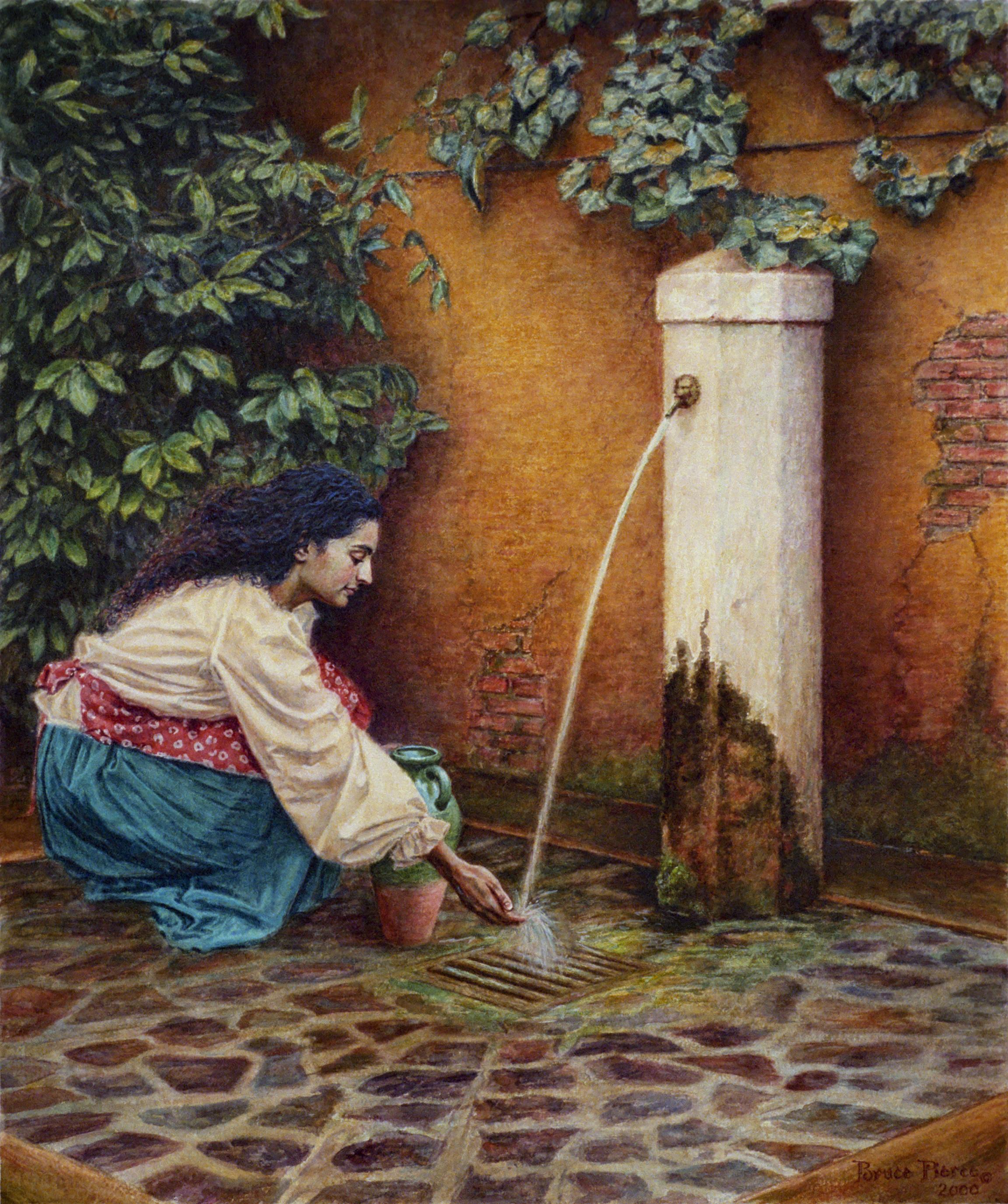 Una Ragazza alla fontana