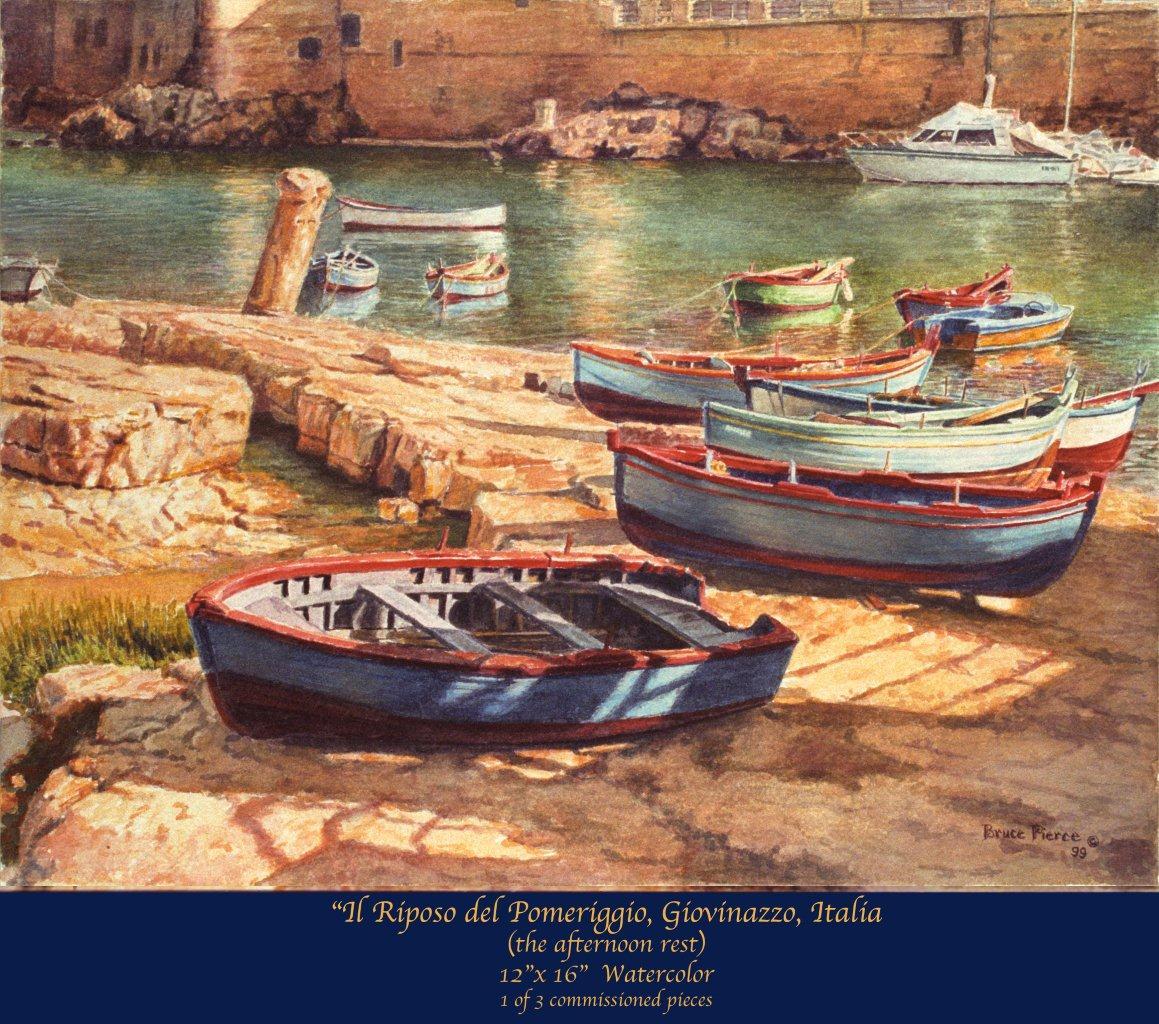 Giovinazzo, Italy Fishing Boats