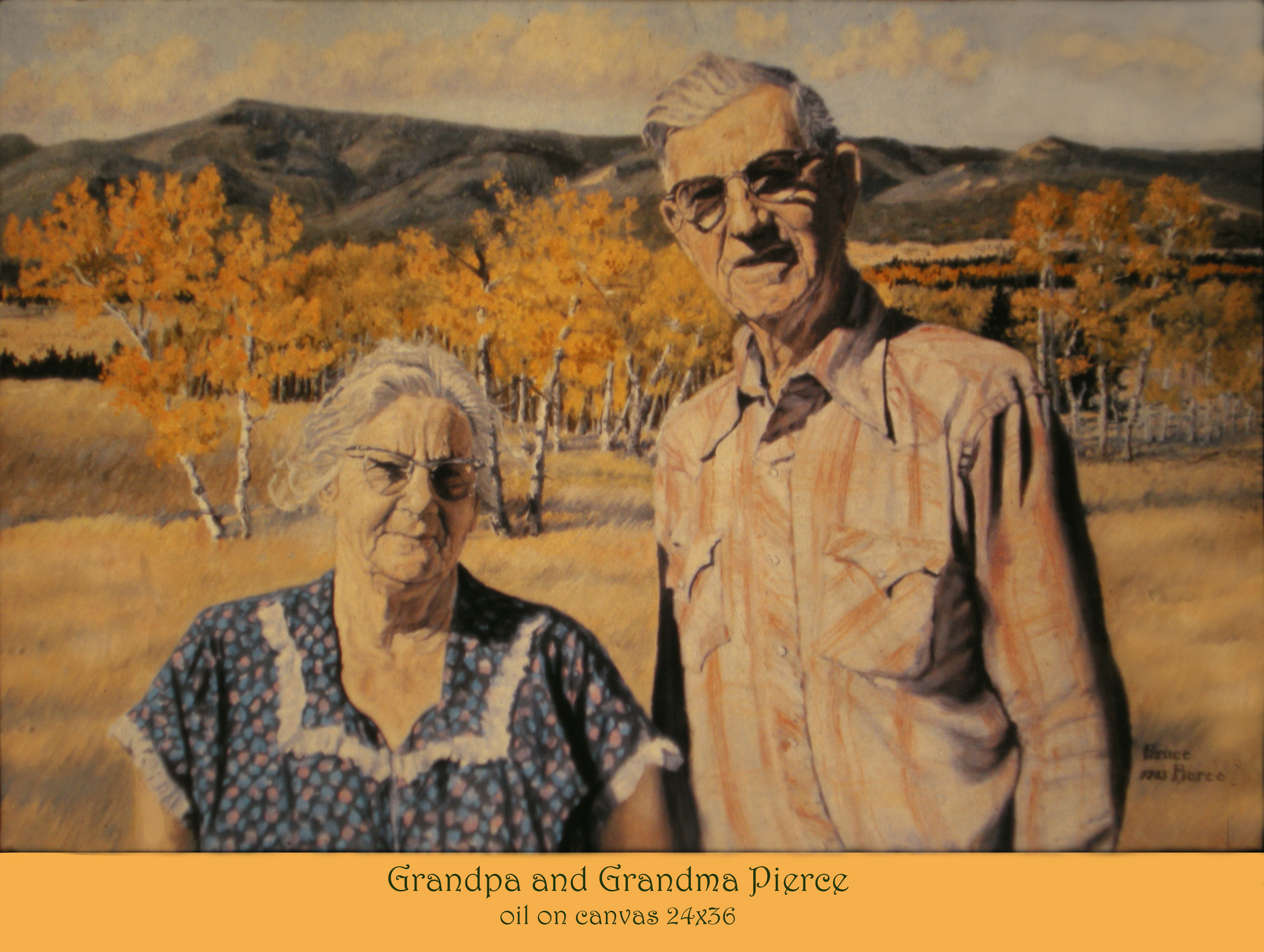 Grandma and Grandpa Pierce