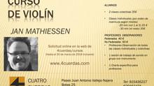 Curso de violín JAN MATHIESSEN