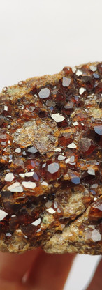REF33  MINERAL AND PRICE:Garnet (Andradite) with Calcite and Epidote  SOLD