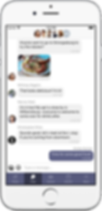 chat interface of cohort app