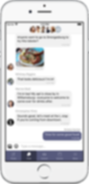 chat screenshot of cohort app