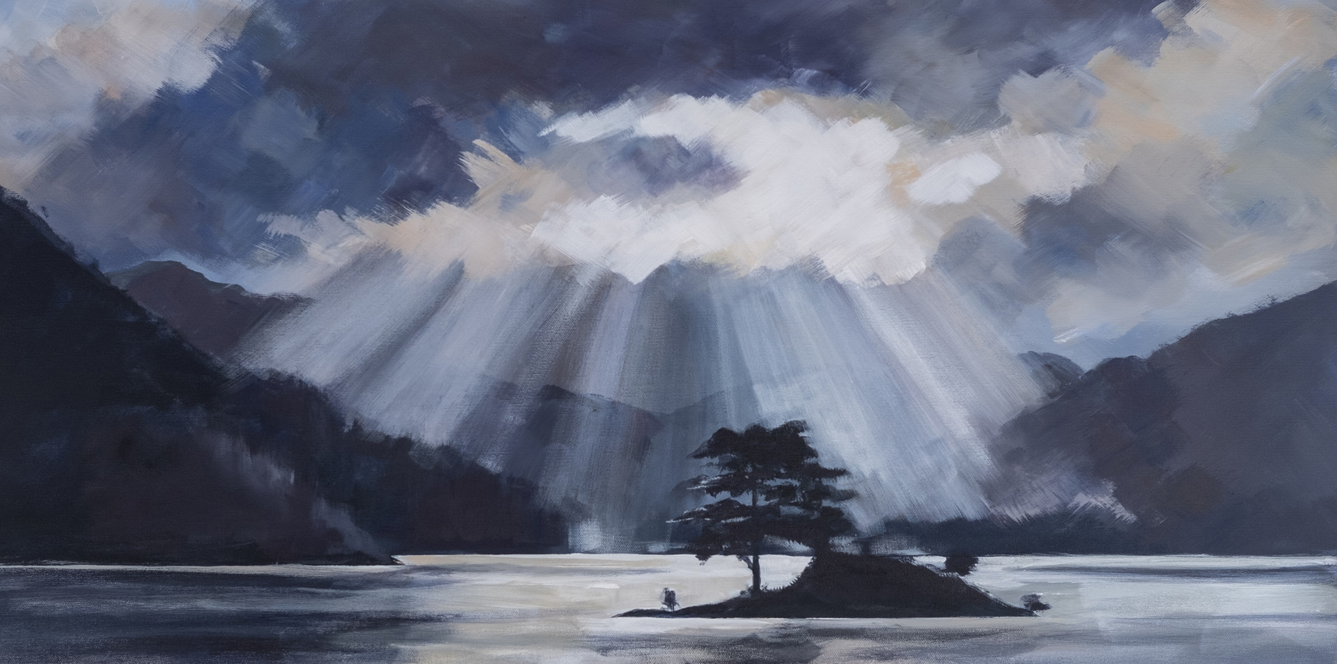 Breaking through - Ullswater after a storm