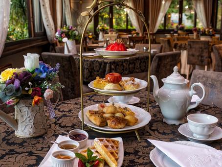 Chá da tarde em estilo Inglês