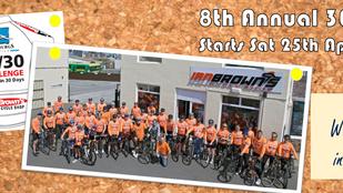 8th Annual 30/30 Charity Ride Announced