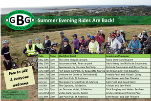 GBG 2014 Summer Evening Rides Announced