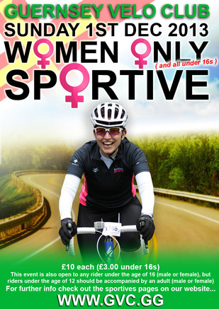 Women Only Sportive: Sun, 1st December 2013