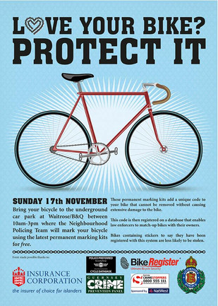 FREE Bike Security Tagging: Sun 17th Nov 2013
