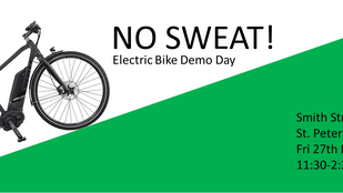 No Sweat! GBG eBike Demo Day Fri 27th May, 11:30am til 2:30pm