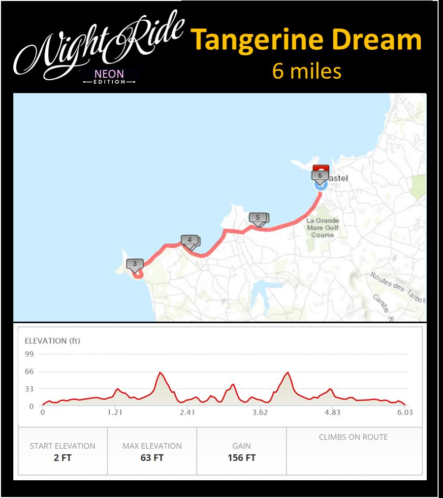Tangerine Dream Map 6 miles