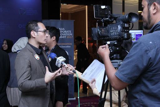 Indrawan Nugroho had Interview with Media