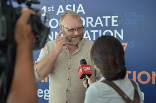 Neil Cross (ACIS Speaker) with Media