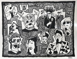 K-Pop_Korean TV_Pop Music Channel_ Ink on Paper 2016 11 x 14 inches