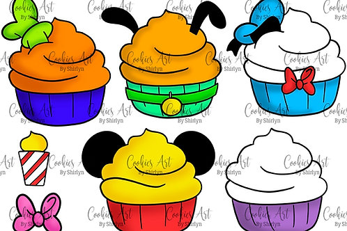 Disney Inspired Cupcake Whole Set STL Files (Digital Files)