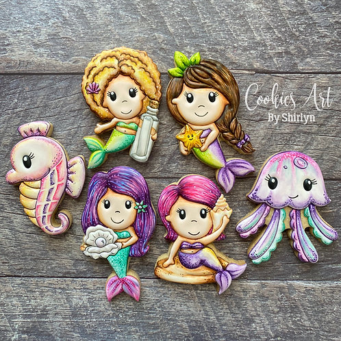 CABS#12 - Paper Nest Dolls Mermaid Online Cookie Class