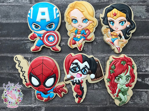 ​CABS#6 - Superheroes Chibis Characters Online Cookie Class