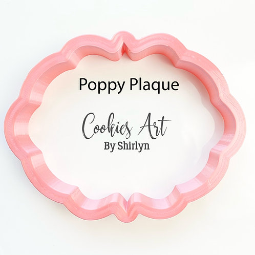 Poppy Plaque STL File